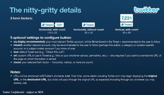 Compatir oficial de Twitter