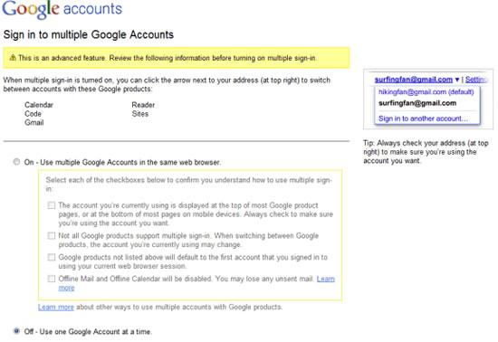 Google Multiples Cuentas