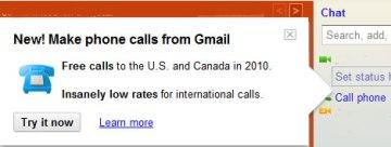Llamadas gratis a USA y Canada Gmail