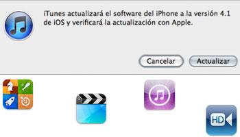 Apple iOS 4.1 Actualizacion