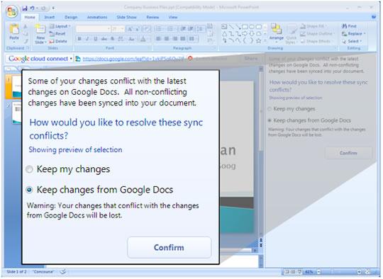 Google Docs Clous Connect Microsoft Office