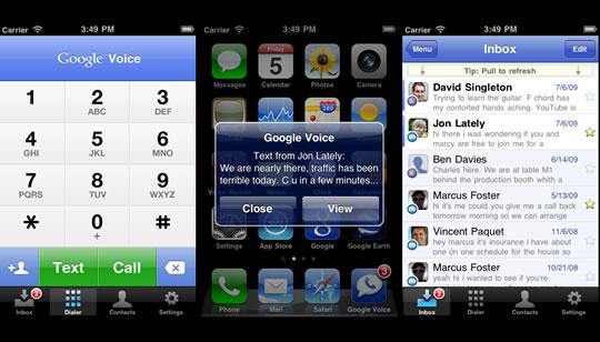 Google Voice para el iPhone