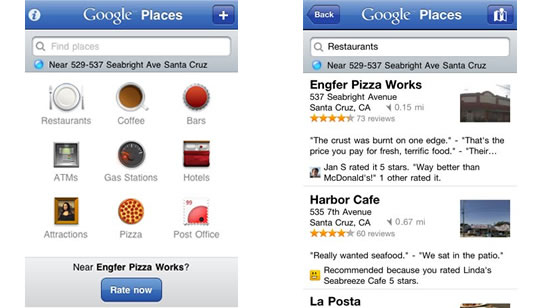 Facebook Places para iPhone, iPad e iPod Touch