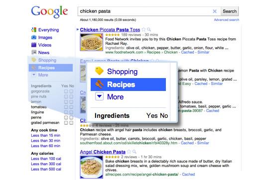 Google Recipe - Busqueda de recetas