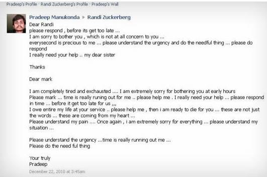 Mark Zuckerberg busca protección de la ley - Wall Post