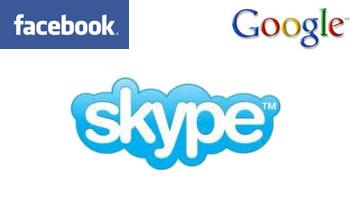 Facebook y Google tras Skype