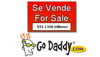 GoDaddy venta por 2.500 millones