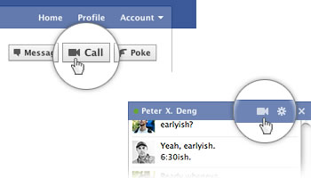 Video chat de Skype en Facebook