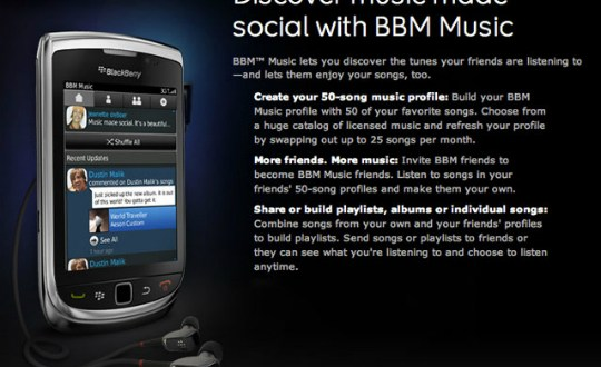 BlackBerry BBM Music