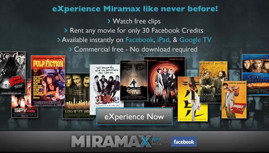 Miramax eXperience - Peliculas en Facebook