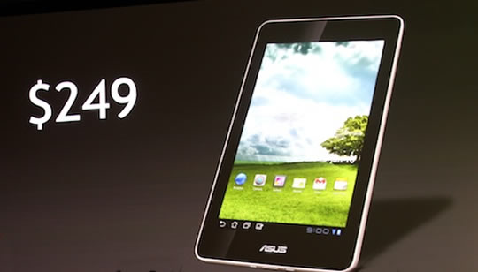 ASUS tablet con Tegra 3 Android ICS