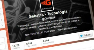Gabatek en Twitter