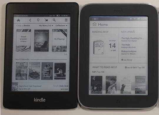 Kindle Paperwhite Nook GlowLight