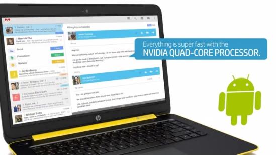 Computador HP con Android