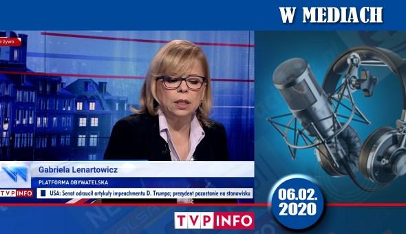 czolówka www w mediach TVP INFO 06.02.2020