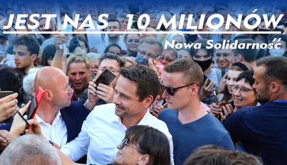 Czołówka jest nas 10 mln