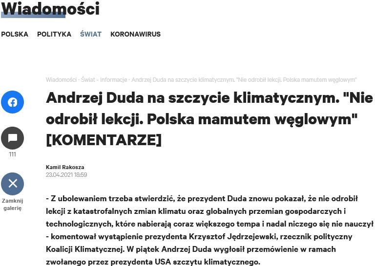 Screenshot_2021-04-25 Andrzej Duda na szczycie klimatycznym Nie odrobił lekcji Polska mamutem węglowym [KOMENTARZE]