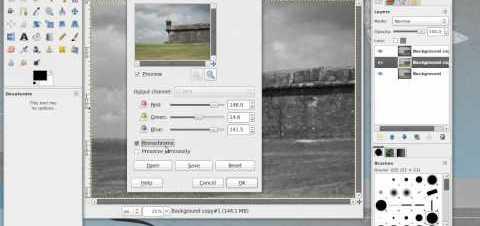 Convertir imágenes a blanco y negro con GImp