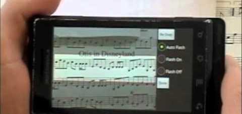 SnapNPlay, reproduce música sacándole una foto a una partitura.