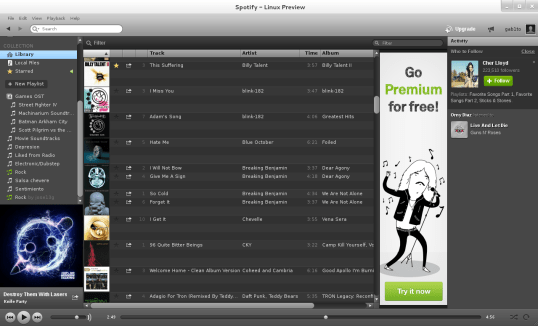 Spotify - Linux Preview
