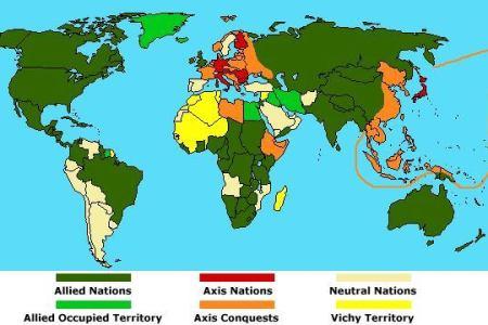 Map Of World War Allies - Allies us map