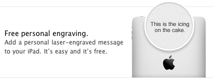 Apple's free iPad engraving - Promo