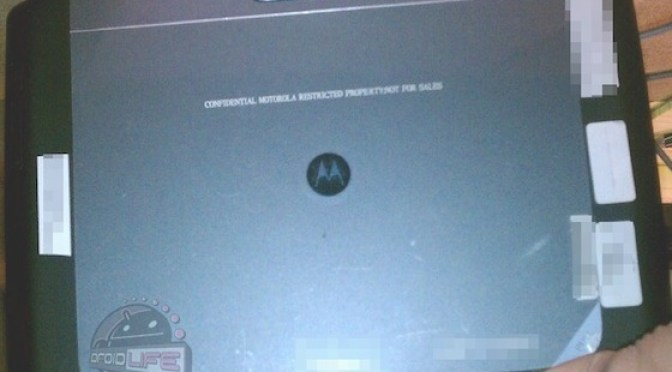 Motorola Xoom 2 - back view