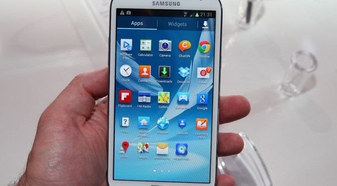 Samsung Galaxy Note 2 - Front View