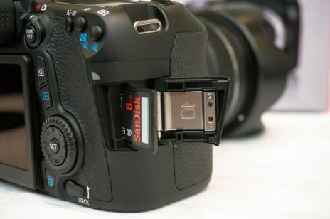 Canon EOS 70D external storage