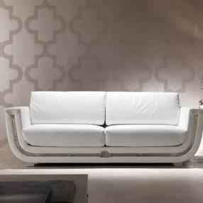 4.3 divano in pelle bianca DAHLIA