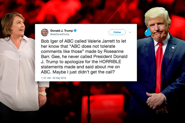 Trump doesn t defend Barr  but takes aim at ABC   Media   Ad Age Credit  Illustration by Ad Age  Composite images Getty