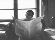 Li Shutian, my office mate at Radio Beijing, 1980; photo by GPellett