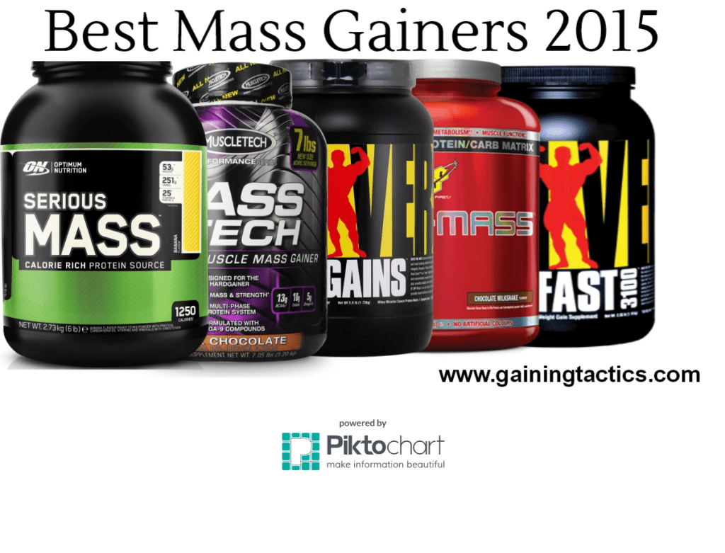 3 Best Mass Gainers 2017 With Reviews