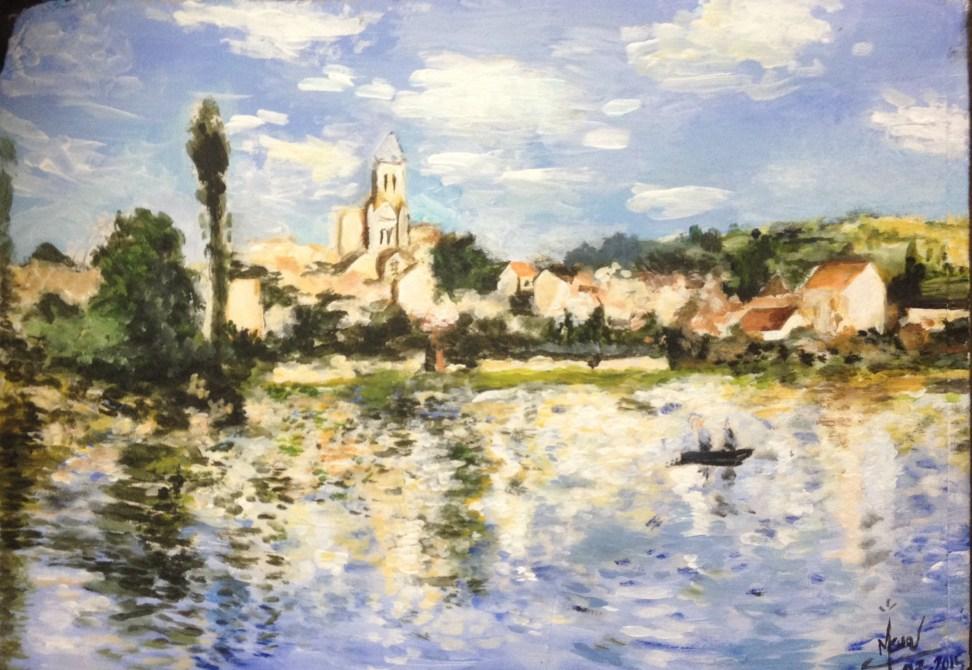 Claude Monet paysage vertheuil
