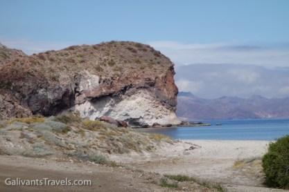 The headland on one side of Playa Ramada.
