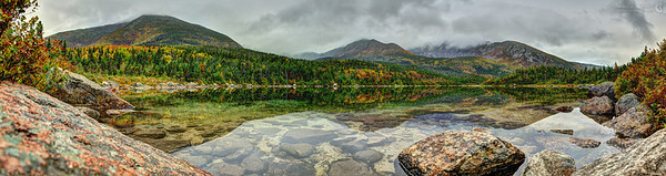 Basin Pond on Mt. Katahdin in Baxter State Park, Maine