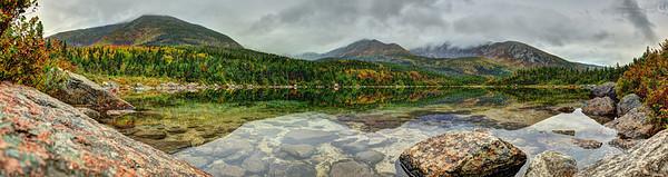 Basin Pond on Mt. Katahdin in Baxter State Park, Maine