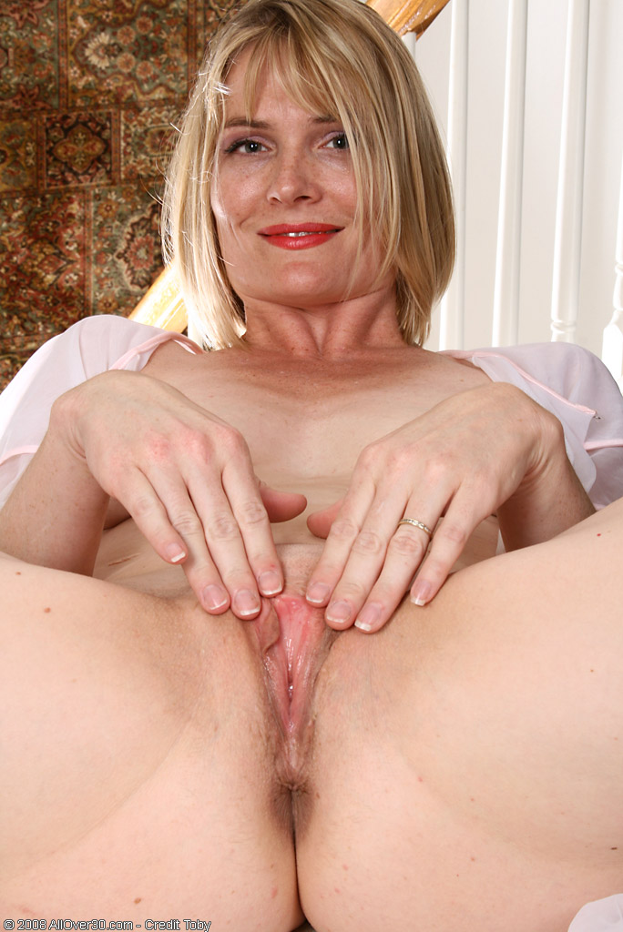 Blond and horny the very first time 8