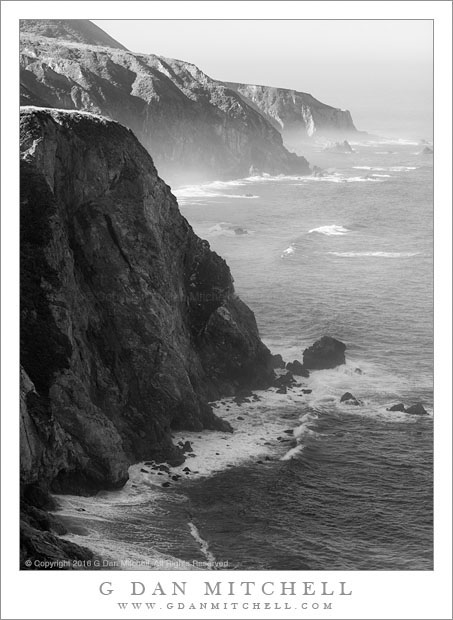 Cliffs, Ocean, Fog