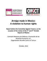 Arraigo made in Mexico Informe CMDPDH y OMCT