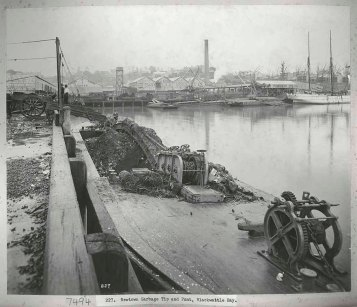 Newtown garbage tip and punt, Blackwattle Bay, c.Jul 1900. Digital ID 12487_a021_a021000004