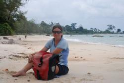 On the beach in Sihanoukville