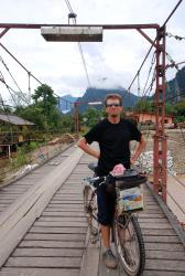Andrew on the bridge