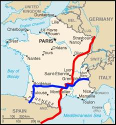 Route in France