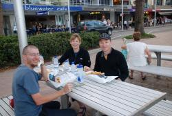Fish 'n' chips with Dave and Nancy