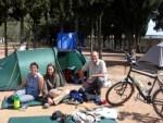A Belgian family we met in Beja: Nadja, Chinook and Danni