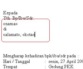 cara membuat data mail merge microsoft office 2007