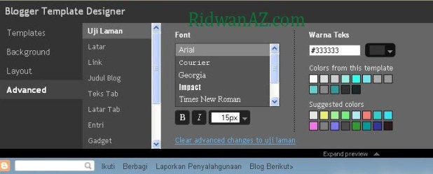 cara mengganti template blog blogspot