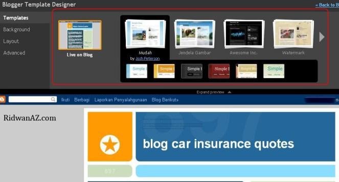 cara mengganti tema blog blogspot