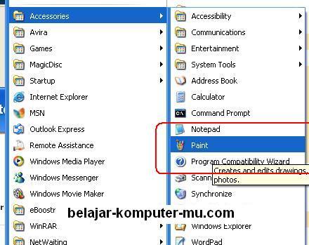 cara membuat screenshot tampilan aplikasi pada windows xp